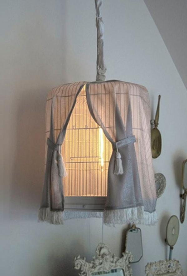 déco cage oiseau chambre suspension vintage