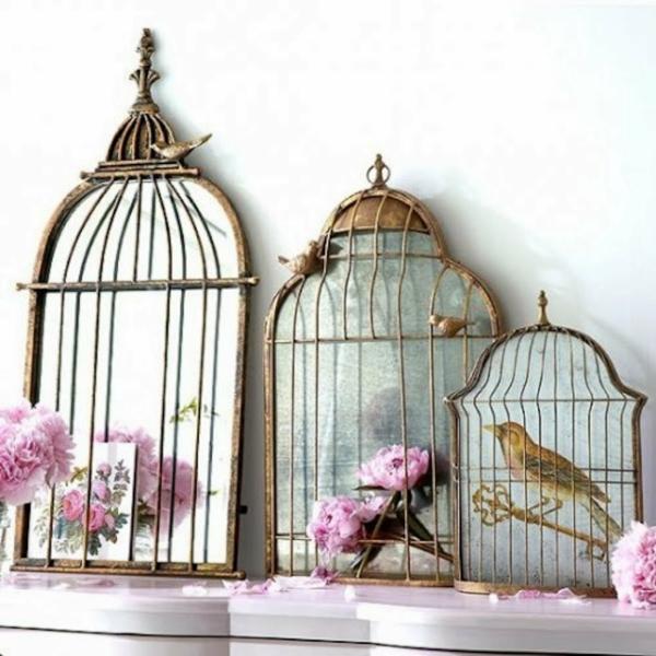déco cage oiseau cheminée