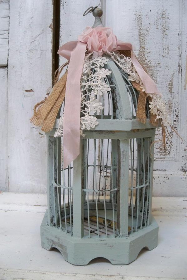 déco cage oiseau extérieur objet déco vintage