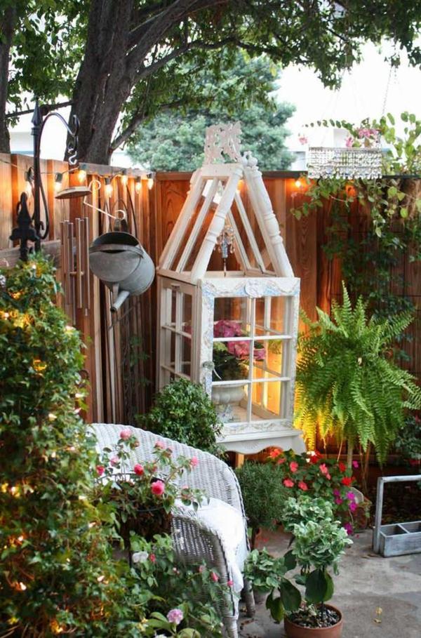 déco cage oiseau jardinière shabby chic jardin