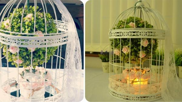 déco cage oiseau petit arbre mariage