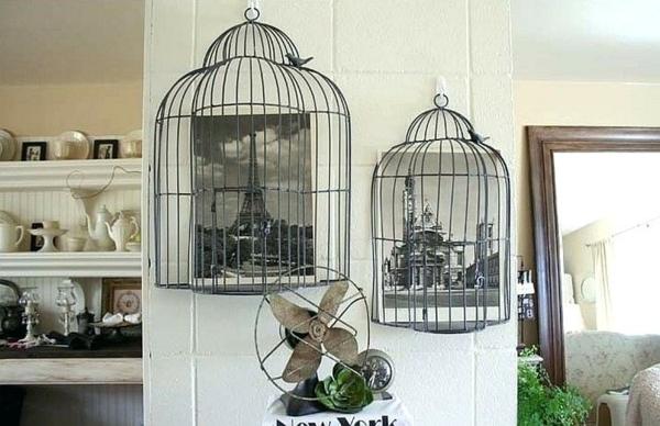 déco cage oiseau pour le mur