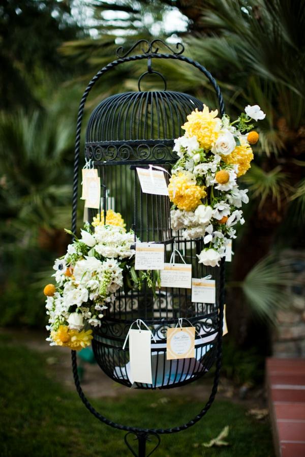 déco cage oiseau pour mariage boîte à cartes