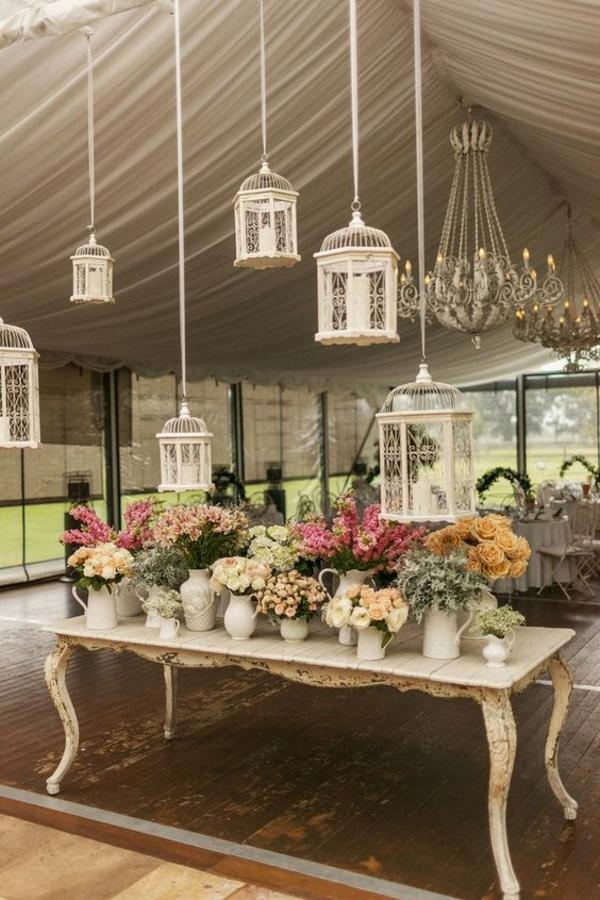 déco cage oiseau salle de mariage