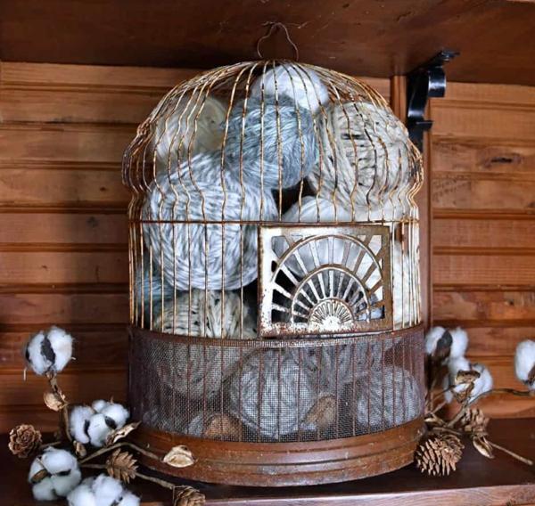 déco cage oiseau salon déco d'hiver
