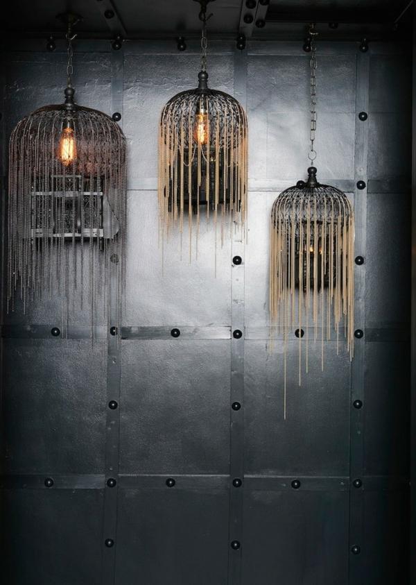 déco cage oiseau salon luminaires design