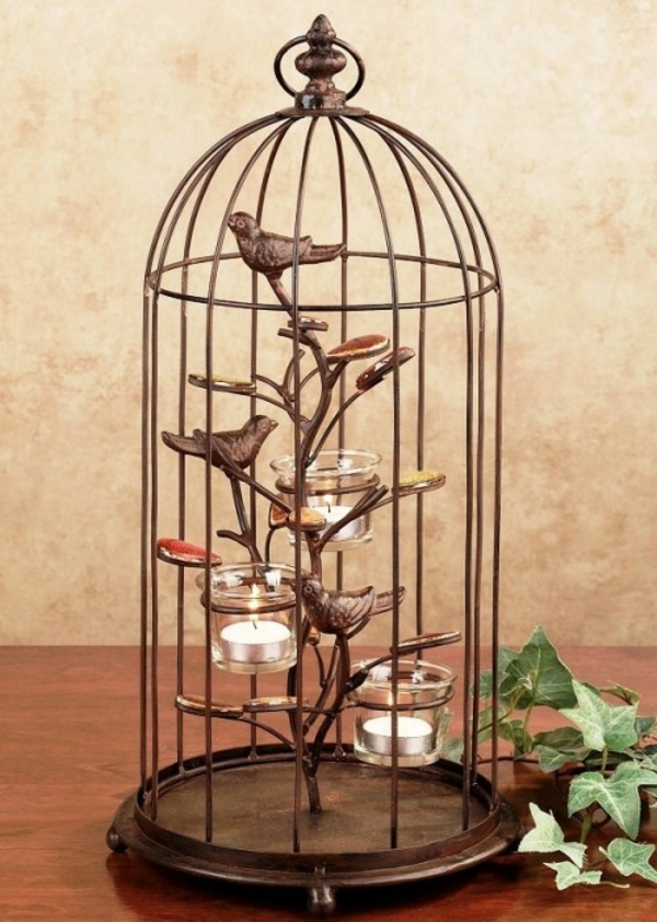 déco salon chandelier déco cage oiseau