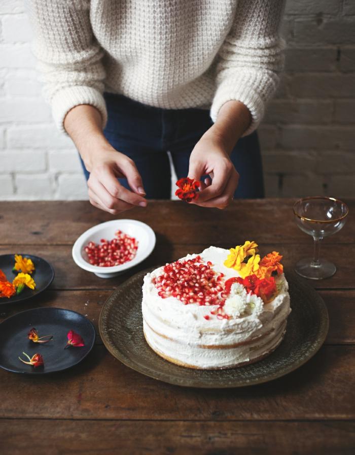 décoration gâteau idée bienfaits de la grenade