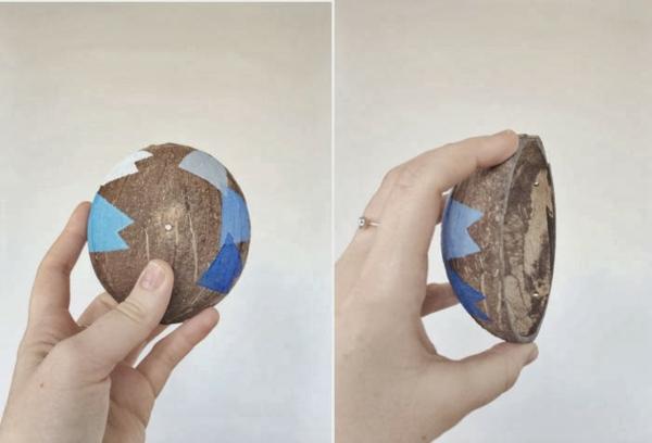 diy jardinière à suspendre à partir de noix de coco