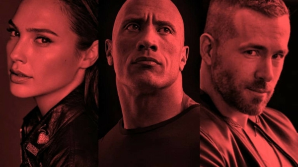 dwayne johnson gal gadot ryan reynolds red notice netflix