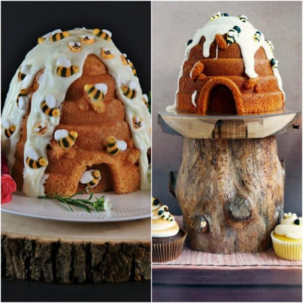 gâteau nid d'abeille anniversaire