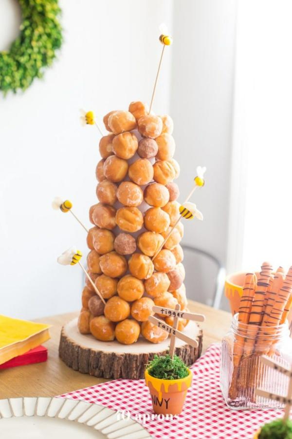 gâteau nid d'abeille au chocolat beignets