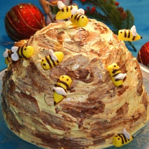 gâteau nid d'abeille aux croissants