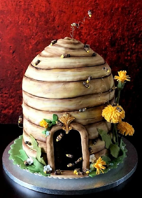 gâteau nid d'abeille glaçage crème beurrée