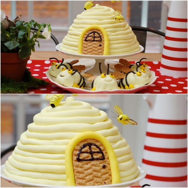 gâteau nid d'abeille glaçage crème douce