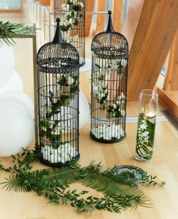 idée déco mariage déco cage oiseau
