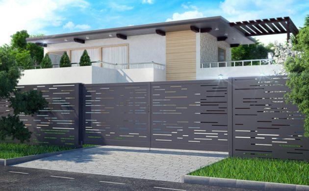 clôture en aluminium