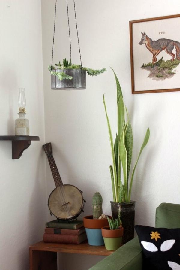 jardinière suspendue à fabriquer soi-même boîte de conserve corde