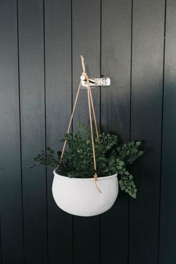 jardinière suspendue à fabriquer soi-même conteneur en porcelaine corde