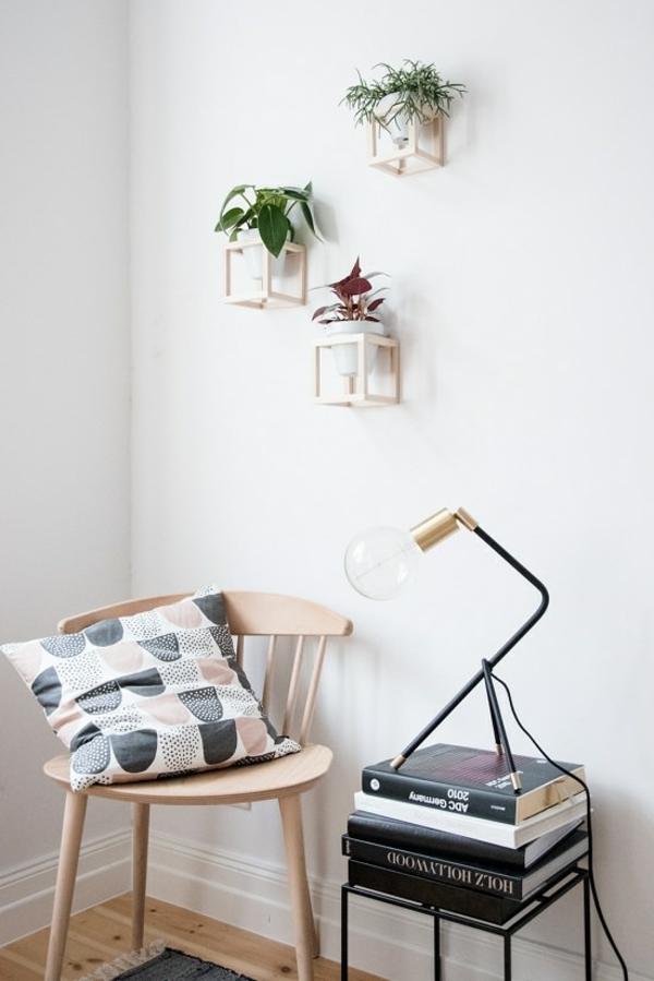 jardinière suspendue à fabriquer soi-même cube en bois