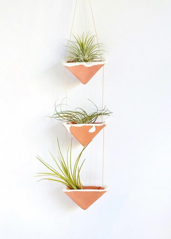 jardinière suspendue à fabriquer soi-même pots en argile