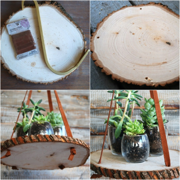 jardinière suspendue en bois à fabriquer soi-même