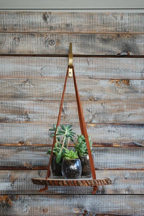 jardinière suspendue en bois diy