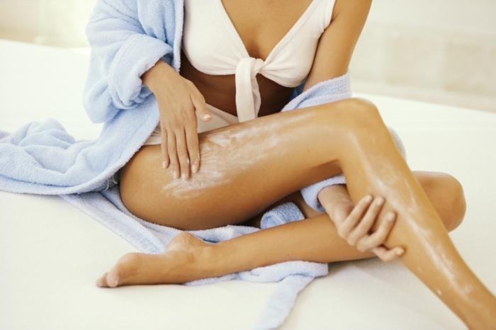 lait du corps pour avoir de belles jambes