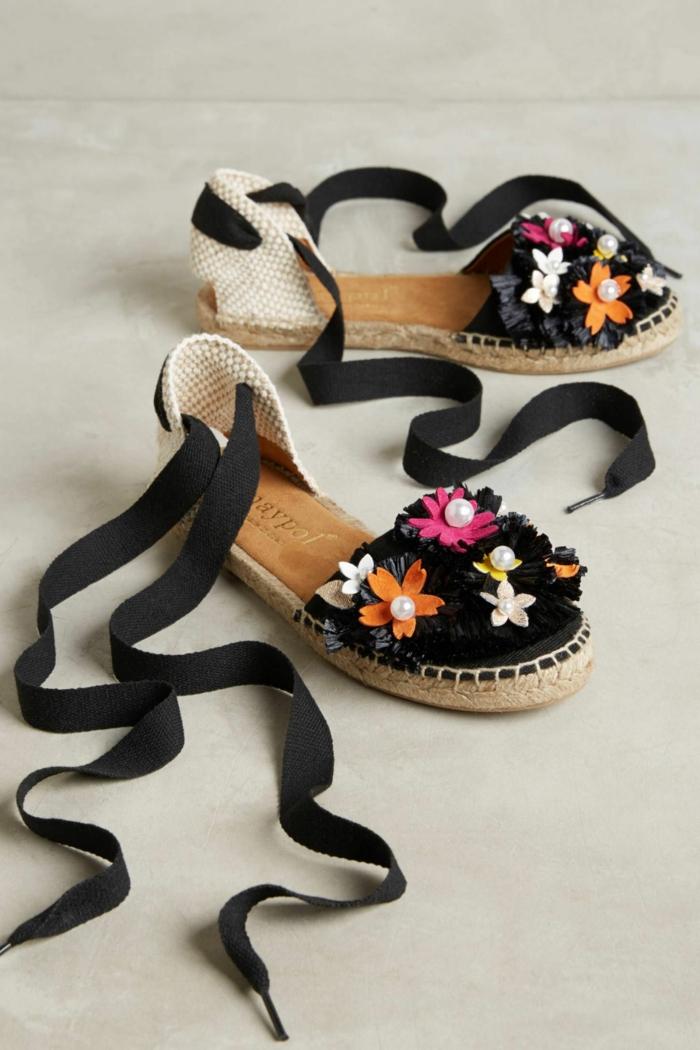 look floral espadrilles personnalisées
