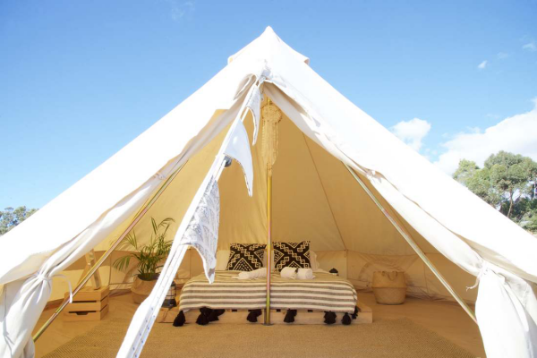 luxe camping grand espace