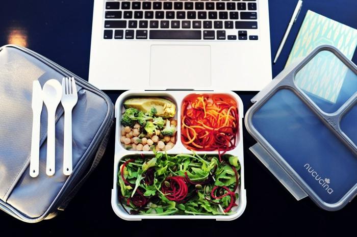 manger au bureau boîte bento