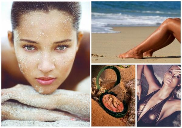 maquillage à la plage transpirant