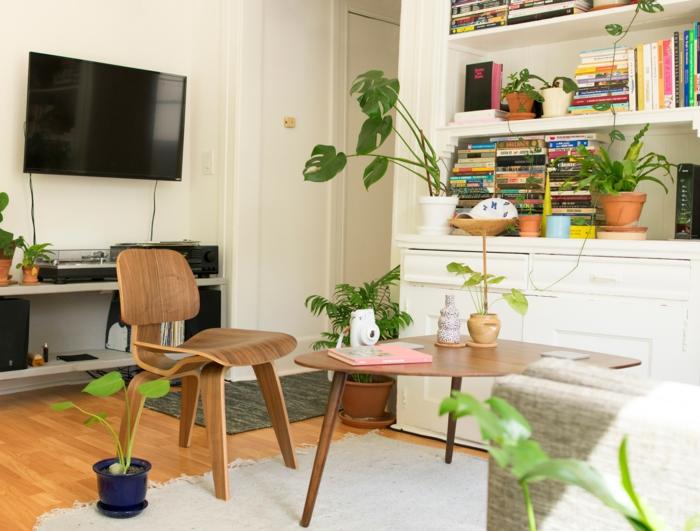 meuble de rangement salon avec des livres