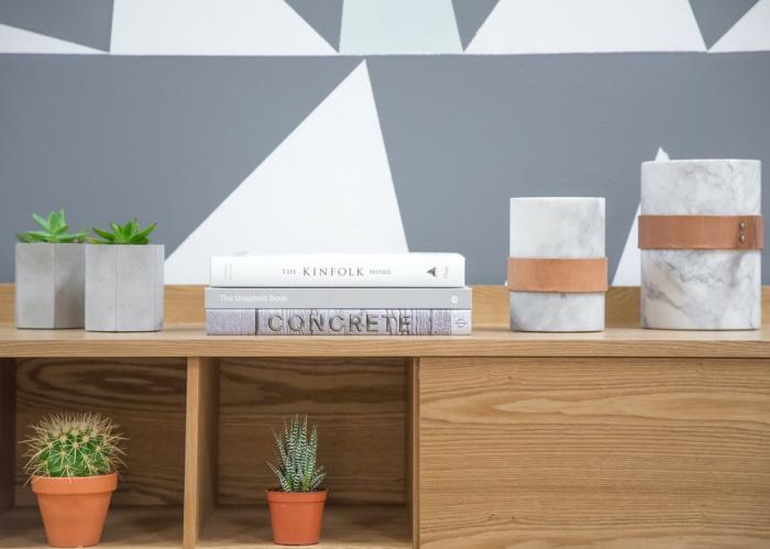 meuble de rangement salon pour vos fleurs en pot