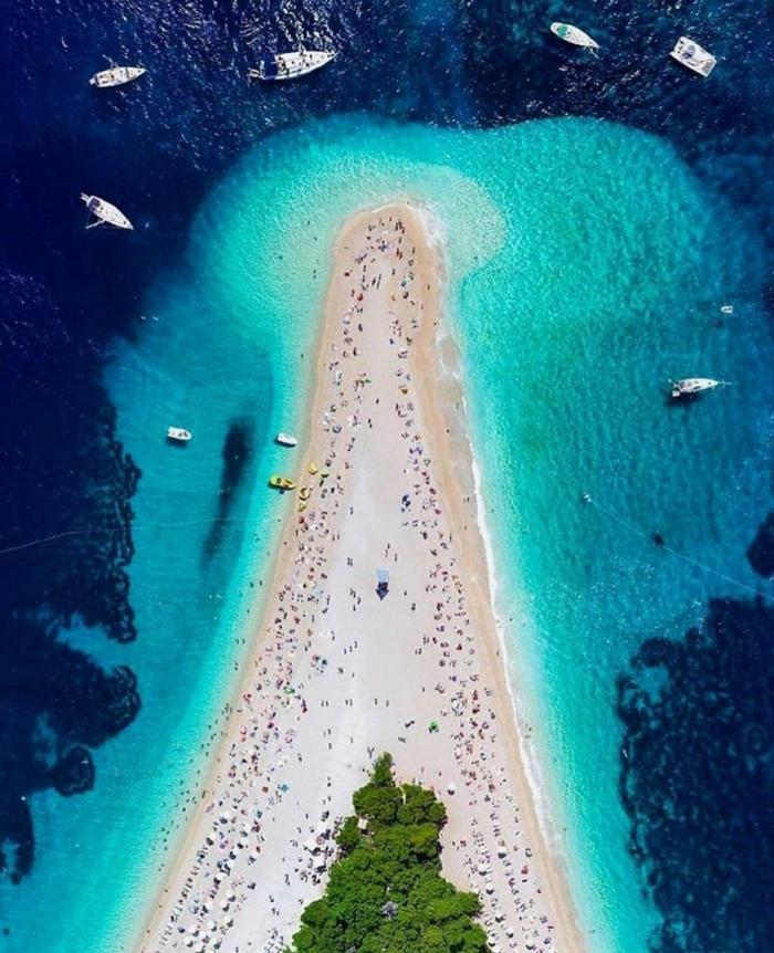 plage zlatni rat voyage 2019 croatie