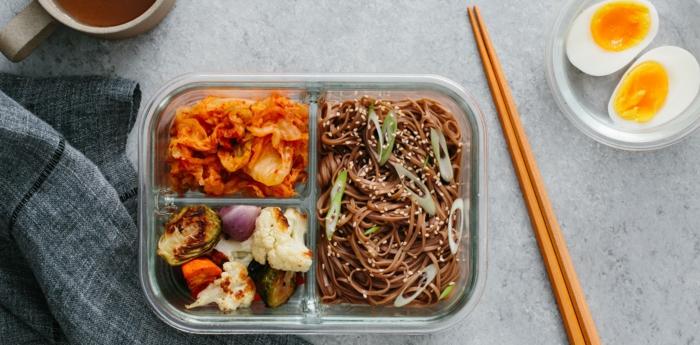 proposition facile boîte bento repas déjeuner