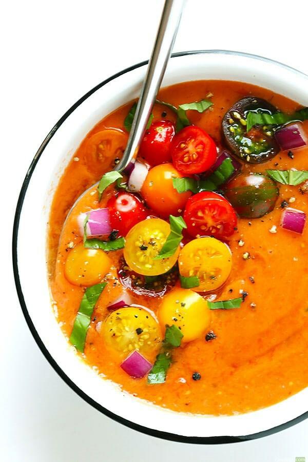 recette gaspacho aux tomates jaunes