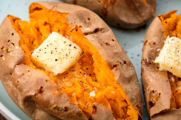 recettes délicieuses avec de la patate douce au four