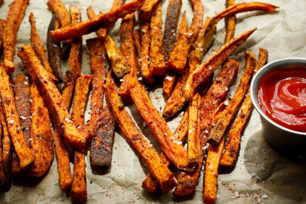 recettes délicieuses avec de la patate douce frite de patate douce