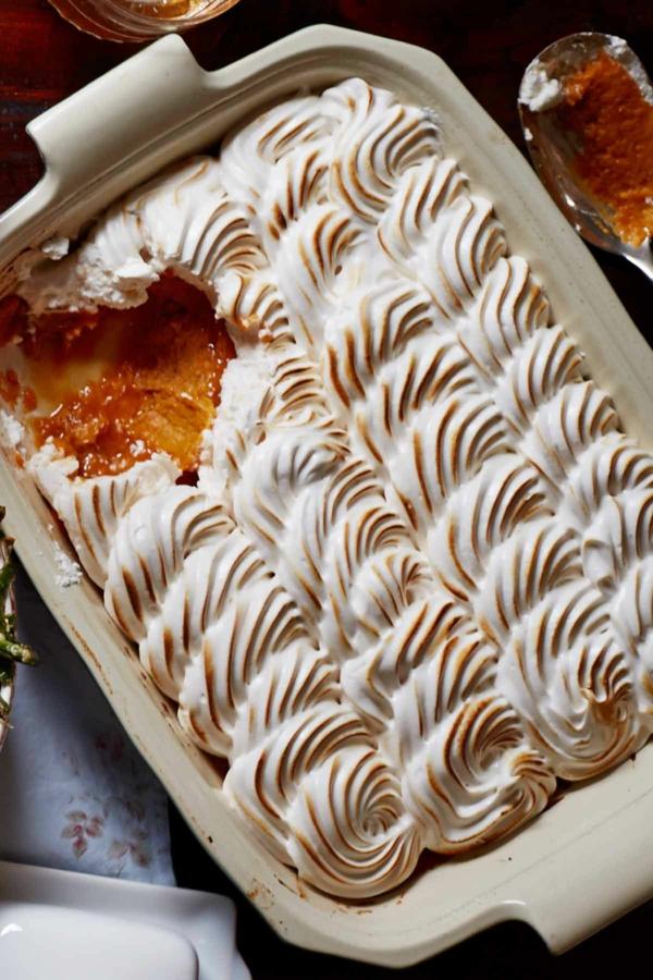 recettes délicieuses avec de la patate douce gâteau aux patates douces à la meringue et au sirop d'érable