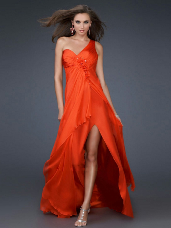 robe longue rouge ultra féminine