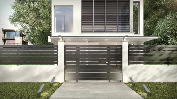 sécurité maison clôture en aluminium