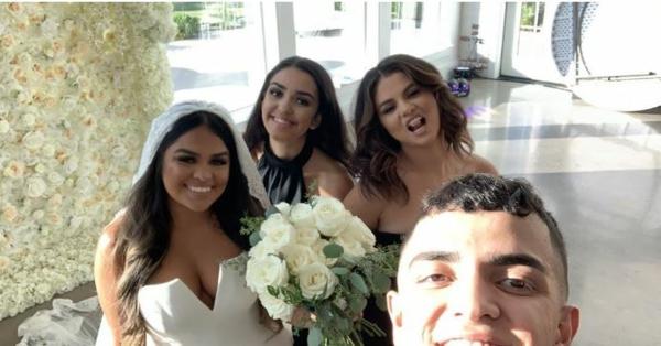 selena gomez au mariage de sa cousine priscilla deleon