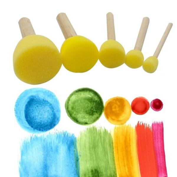 technique peinture à l'éponge tampons encreurs