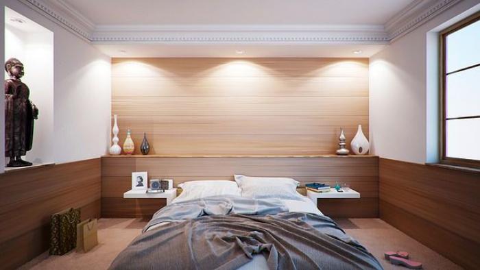tendance chambre à coucher 2019 lit au milieu