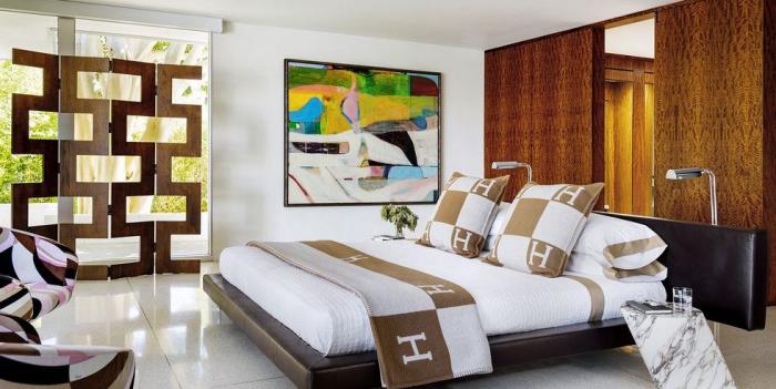 tendance chambre à coucher 2019 mur moderne