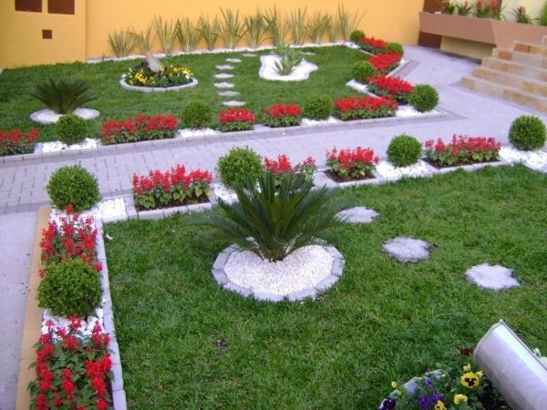 aménagement jardin paysager formes et espèces