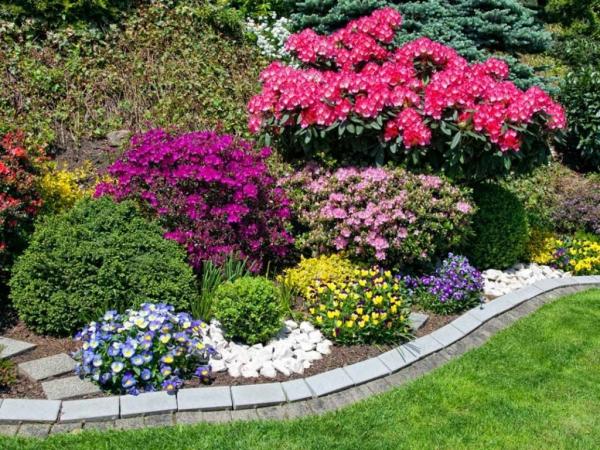 aménagement jardin paysager riche palette