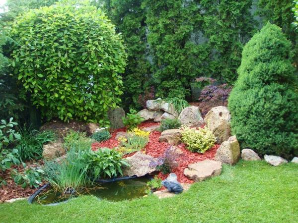 aménagement jardin paysager un coin du jardin