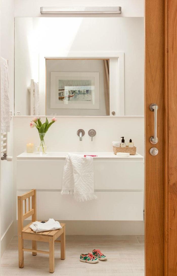 aménagement salle de bain portes coulissantes